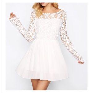 Dresses & Skirts - Long sleeve lace white dress